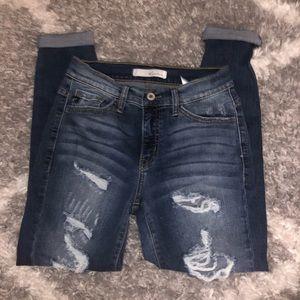 KanCan Womens Estilo Cut Ripped Destroyed Jeans